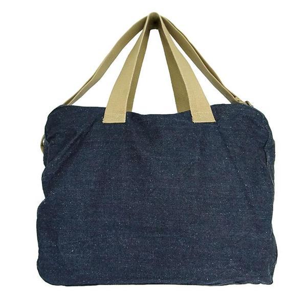 KIDS Pequeno Tocon Denim Diaper Bag - Navy Blue