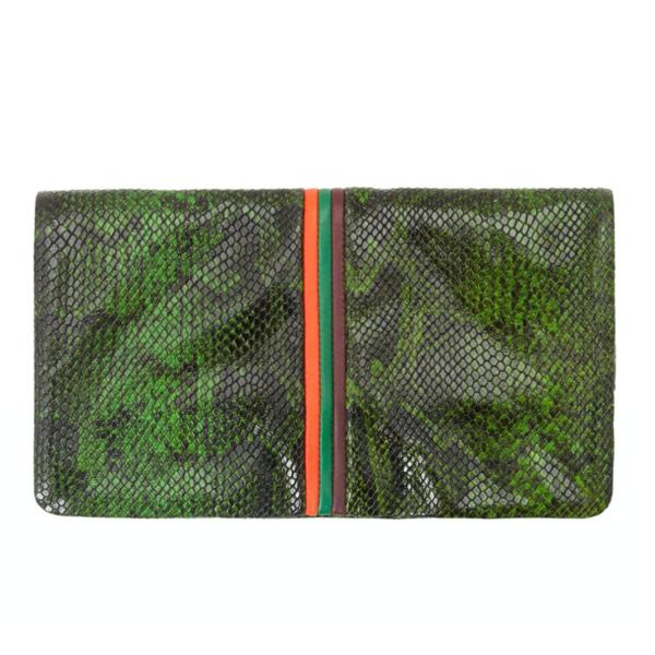 Clare V. Foldover Clutch W/ Tabs - Fern Miró Snake