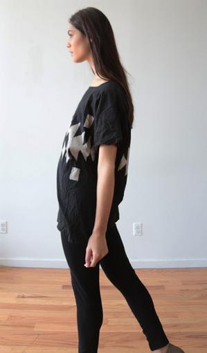 Uzi NYC Black Broken Stripe Kimono
