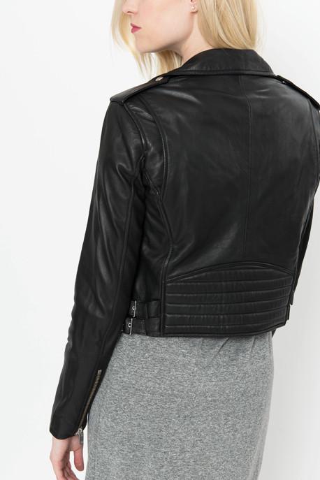'Zefir' Leather Jacket in Black