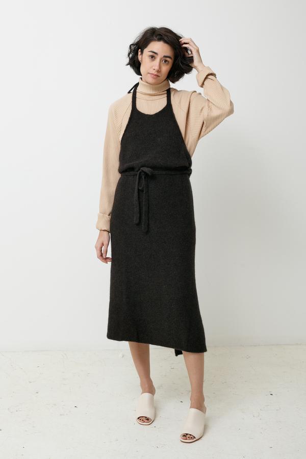 336191981b6 BaseRange Knit Apron Dress - black melange. sold out