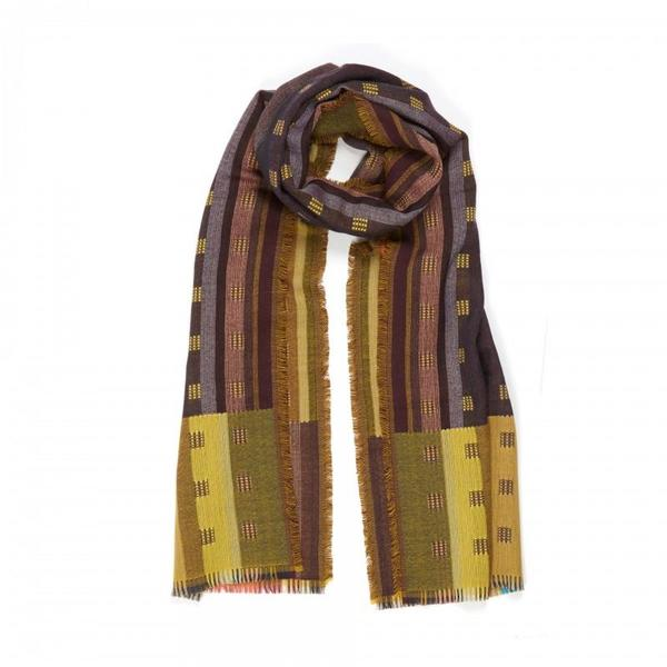 Wallace Sewell Wool Doublecloth Wrap Jacopo SCARF - Gold