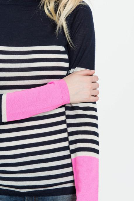 M. Patmos Cashmere Mariner Striped Sweater