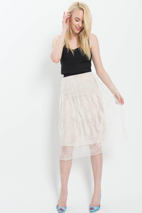 TOME Chantilly Lace A-Line Skirt