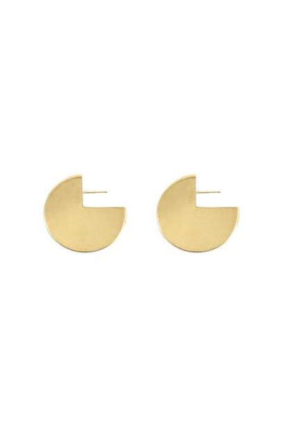 Young Frankk Circle Earrings, Gold Plated