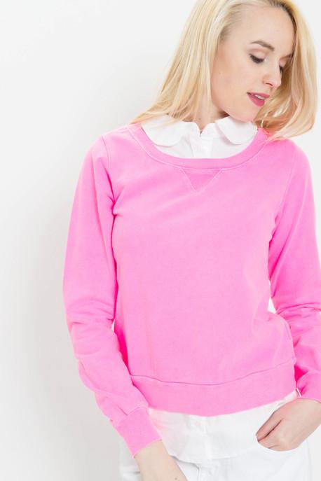 Clu Layered Sweatshirt with Collar