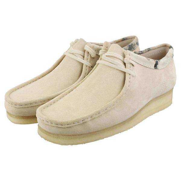 Clarks Wallabee Shoe - Off White