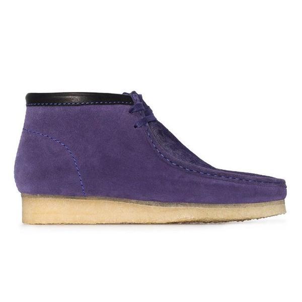 Clarks Wallabee Boot - Purple Interest