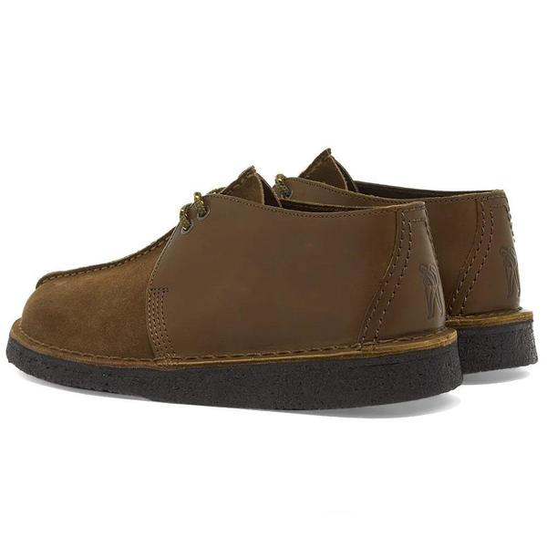 Clarks Desert Trek shoes - Olive Combi