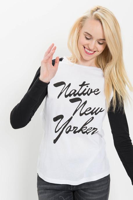 Native New Yorker Flock Baseball Tee