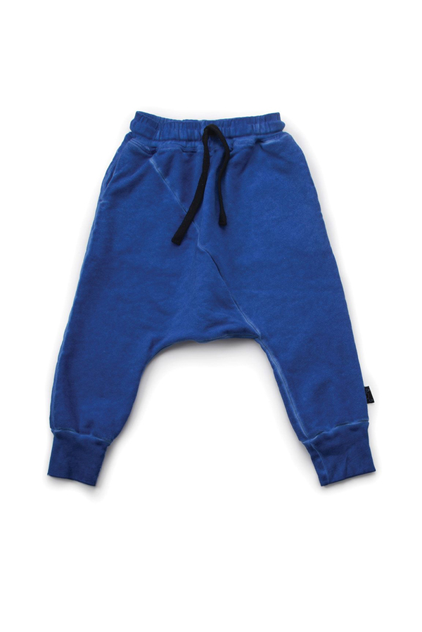 Kids NUNUNU Diagonal Baggy Pants - Dirty Blue