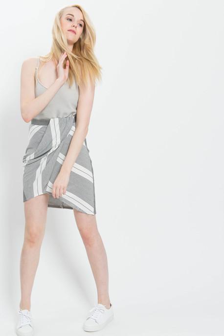 Striped Sarong Skirt
