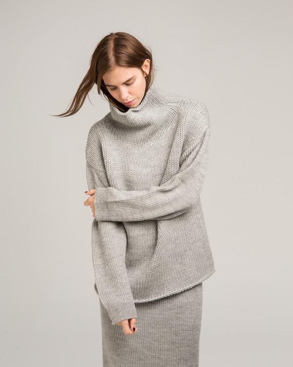 921ef6ce8 Micaela Greg Funnel Neck Alpaca Sweater