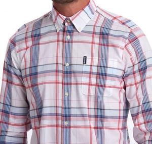 Barbour Madras 4 Tailored Shirt - Sky Blue