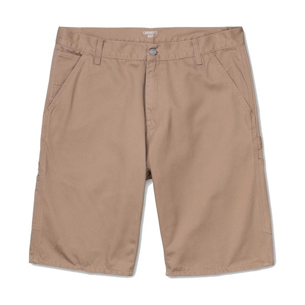 CARHARTT WIP Ruck Single Knee Short - Dusty Brown Stone Washed
