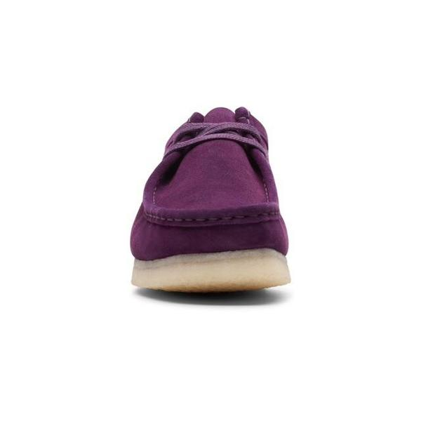 Clarks Wallabee Mens Originals Shoes - Deep Purple
