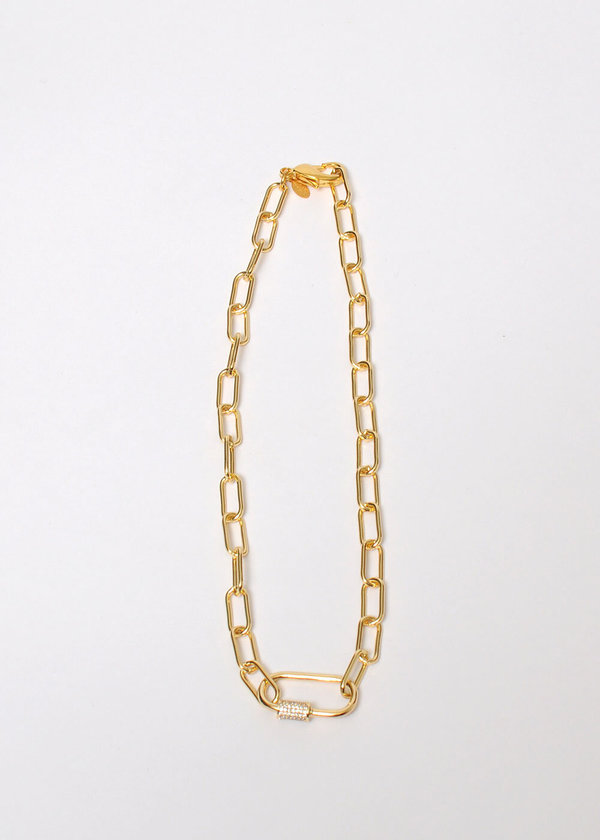 Marion Mckee Jewelry Chain Link Necklace -  24k Gold