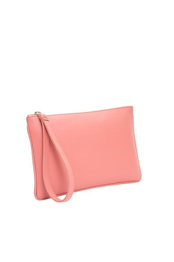Hozen Zipper Clutch - Roseate