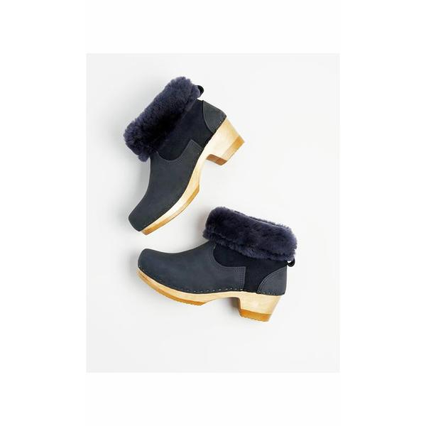 No.6 Shearling Clog Boot - Navy