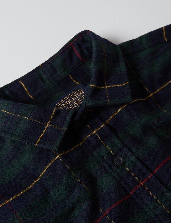 Pendleton Cascade Plaid Shirt - Green/Navy/Red