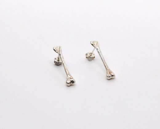 Points & Places Bone Bars Earrings (Sterling Silver)