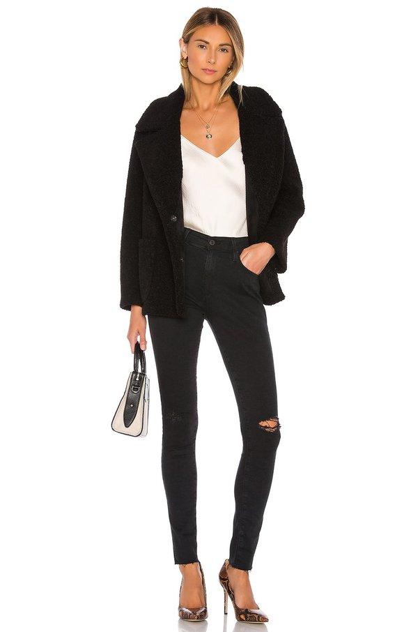 AG Jeans Farrah Skinny - Altered Black Destructed