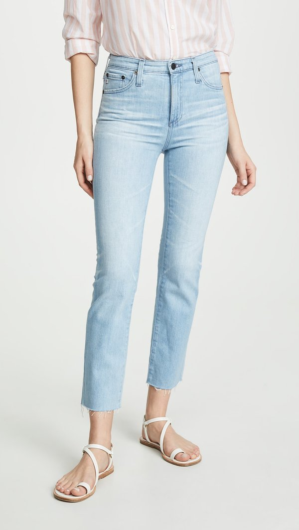 AG Jeans Isabelle High Rise Jeans - 26 Years Sanguine