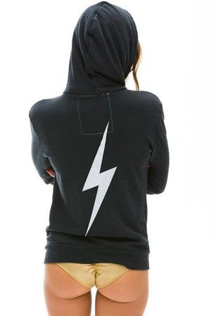 UNISEX Aviator Nation Bolt Hoodie SWEATER - Charcoal