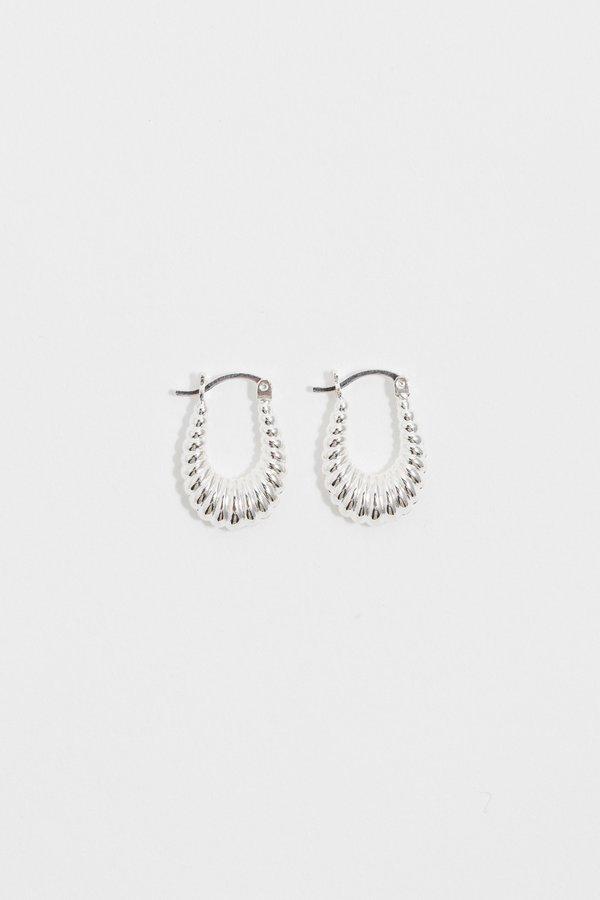 ARO Ripple Puffy Hoop Earrings