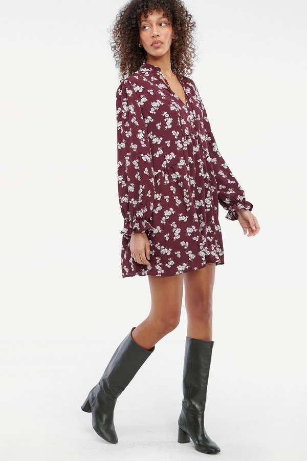 Lacausa Mariposa Mini Dress - Plum Floral