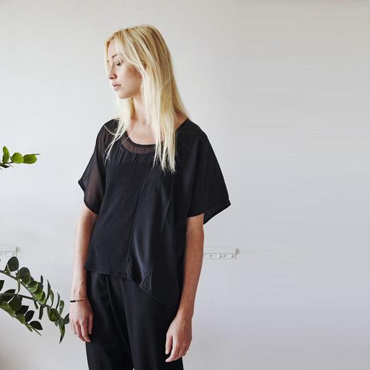 Elsa Esturgie Piers top - black