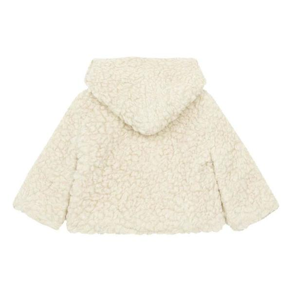 Pequeno Tocon Baby Teddy Jacket With Zipper Natural Cream