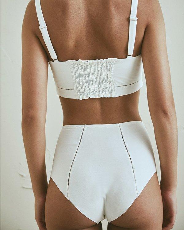 The Great Eros Forma Hi Waist Bikini - Pearl