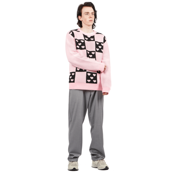 Noon Goons LOVERS SWEATER - PINK/BLACK
