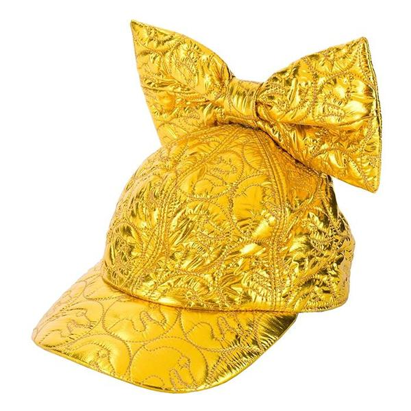 KIDS Caroline Bosmans Child Baseball bow Matte Metallic Hat