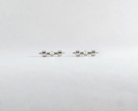 Lacar Checkmate Stud Earrings