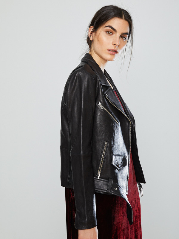ec9bbbfb5b7a Veda Jayne Classic Leather Jacket   Garmentory