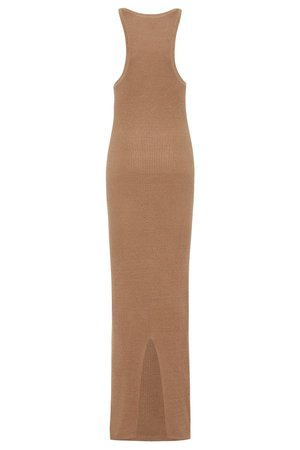 St. Agni Iman Knit Tank Dress - Almond