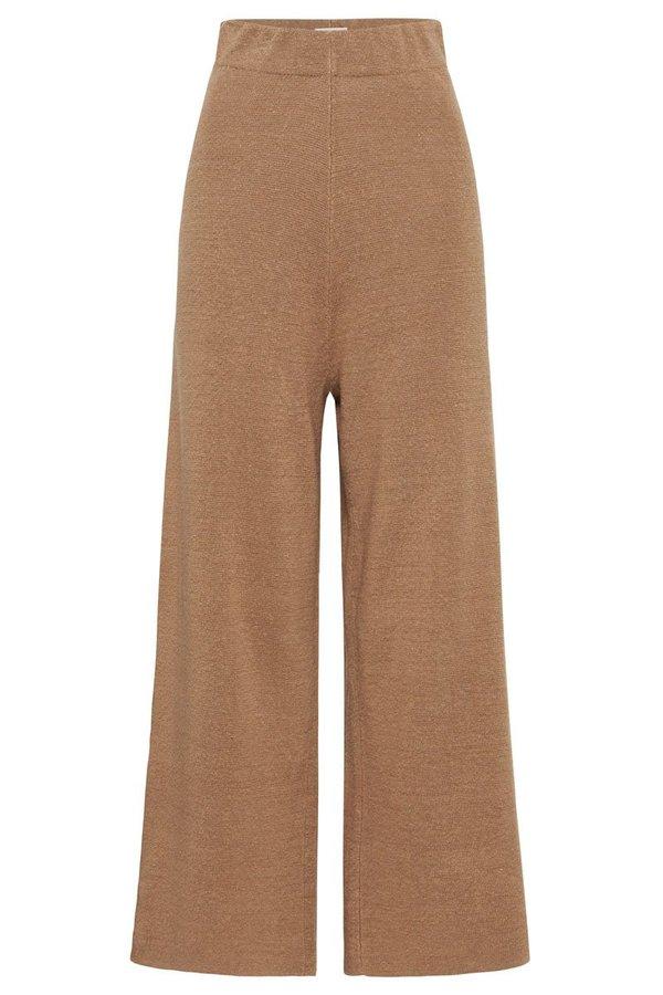 St. Agni Knit Lounge Pant - Almond
