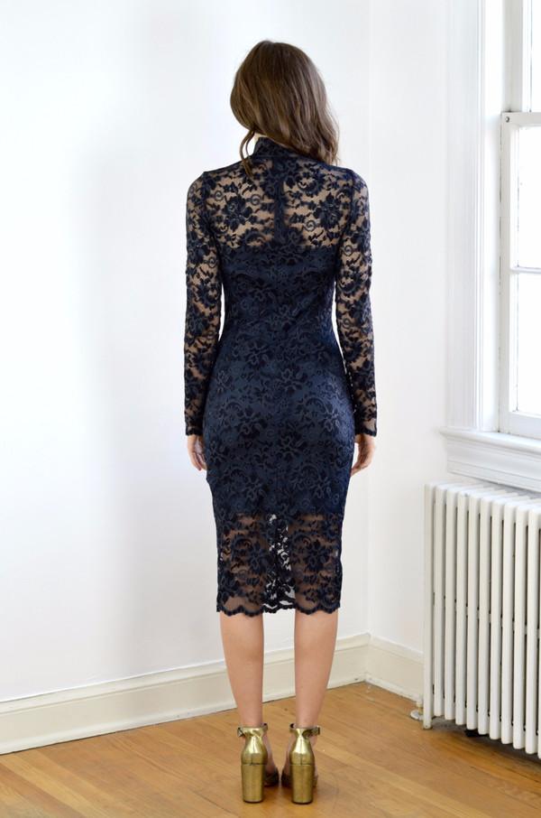 0ac9d07c Ganni Flynn Lace Dress - Ebony/Black | Garmentory