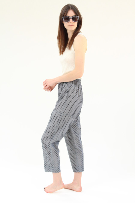 Lina Rennell Basic Pant Black Swiss Dot