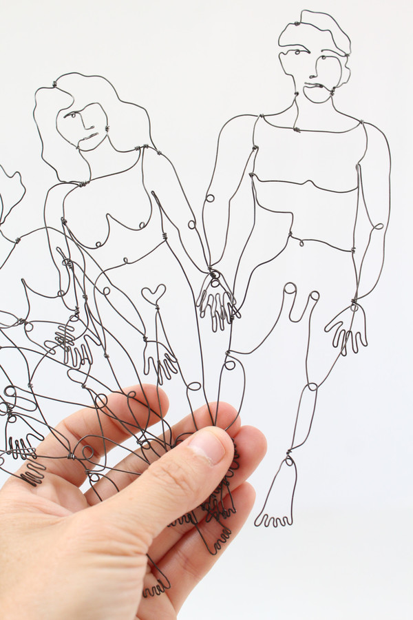 Artist Naked Wire People Bookmarks