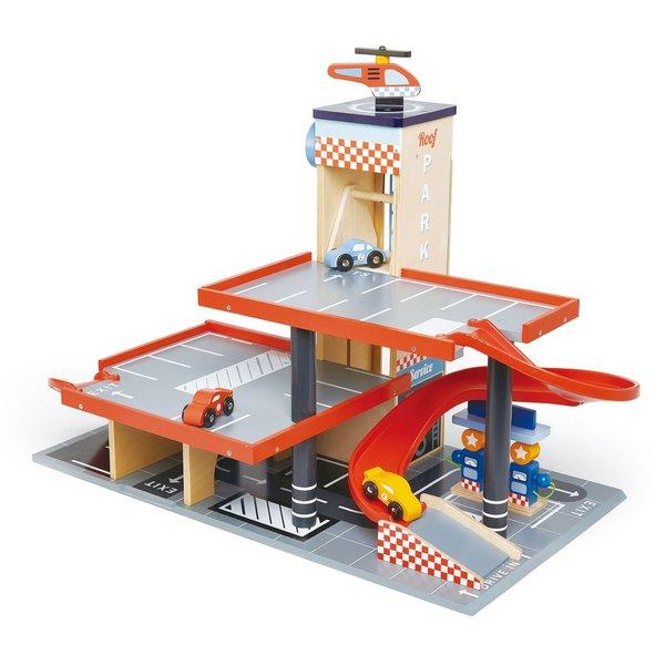 KIDS Tender Leaf Toys Blue Bird Garage & Service Station