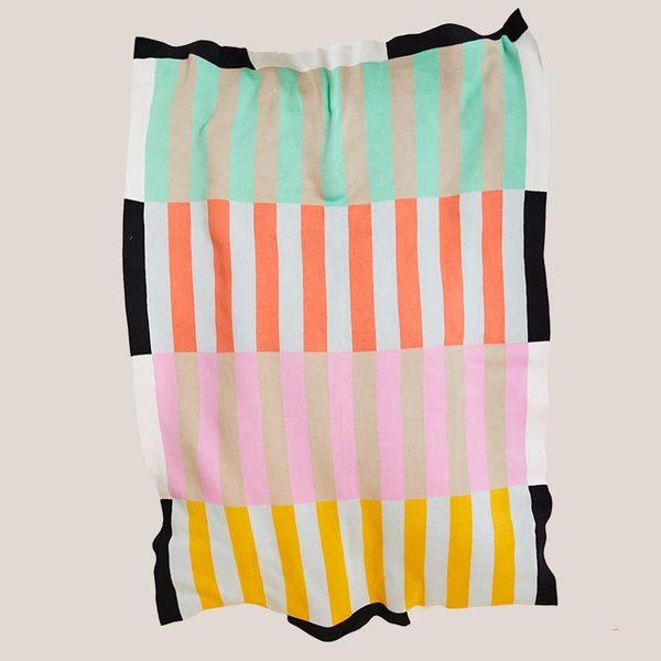 Dusen Dusen Knit Throw - Stripe