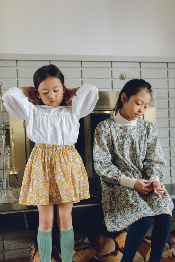 Kids Petits Vilains Josephine Mini Skirt - Autumn Blooms