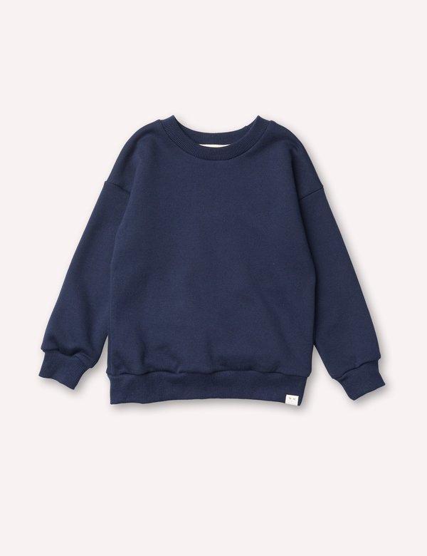 kids Petits Vilains Emil Cozy Sweatshirt - Navy