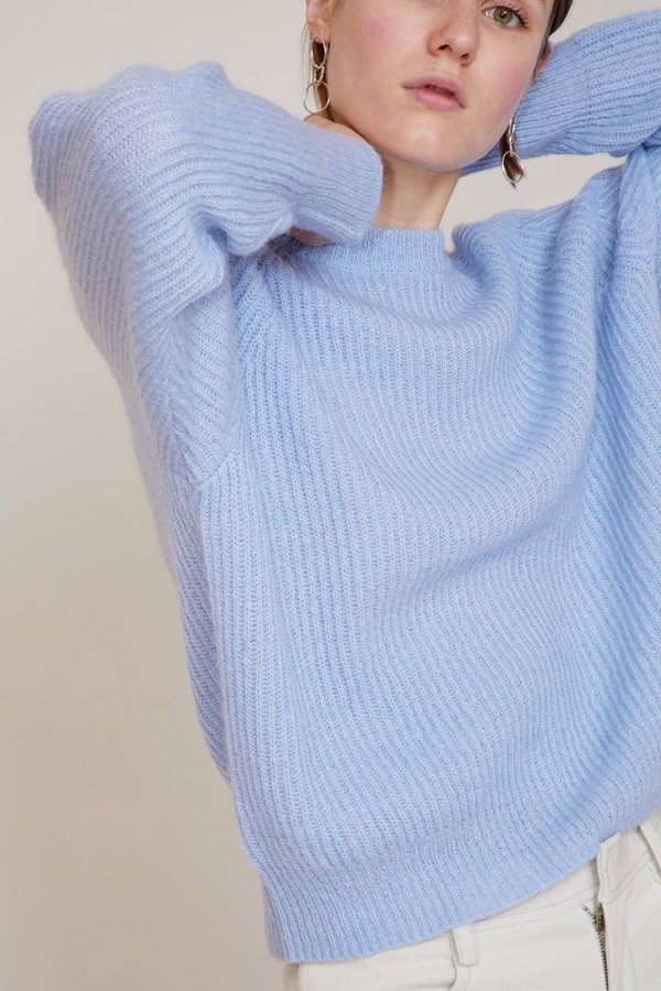 No.6 Darwin Sweater - Sky