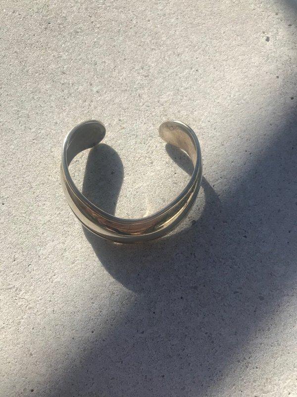 Vintage Collar Cuff Bracelet - Sterling Silver