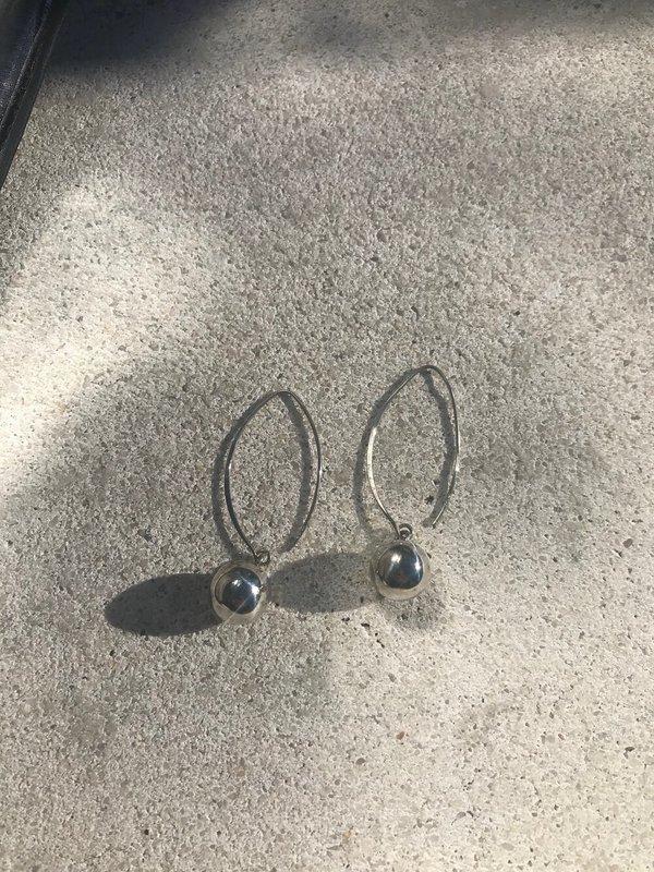 Vintage Ornament Drop Earrings - Sterling Silver