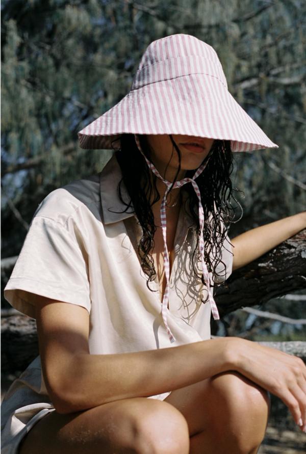 Wellington Factory Nonna Hat - Dusty Pink Stripe